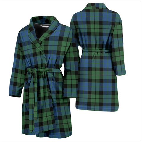 MacKay Ancient Bathrobe | Men Tartan Plaid Bathrobe | Universal Fit