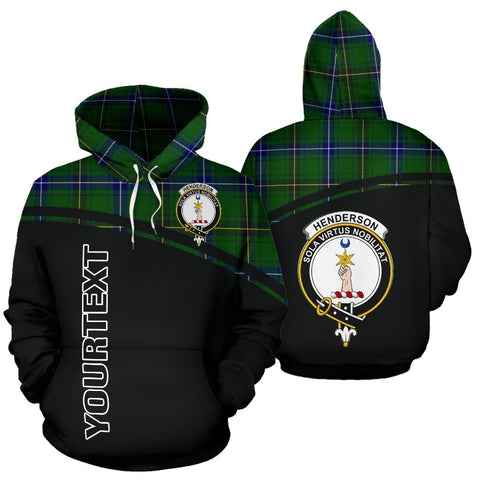 Image of Custom Hoodie - Clan Tartan Henderson Hoodie Make Your Own - Curve Style - Unisex Sizing