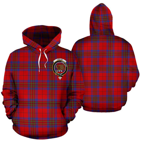 ScottishShop Leslie Tartan Clan Badge Hoodie