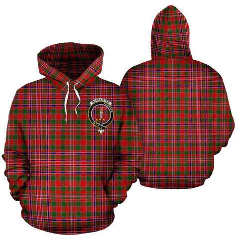 ScottishShop Macalister Tartan Clan Badge Hoodie