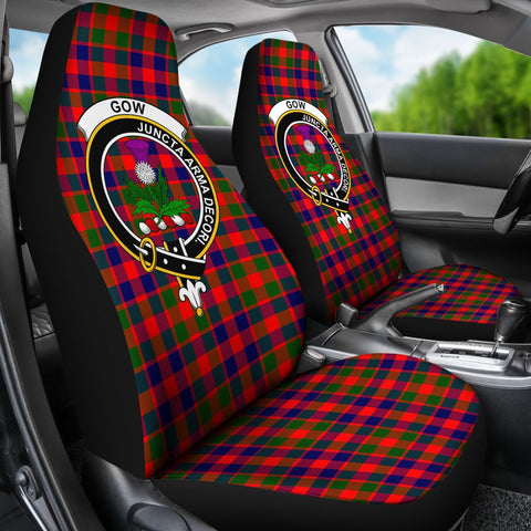 Seat Cover - Tartan Crest Gow Of Skeoch Car Seat Cover - Universal Fit