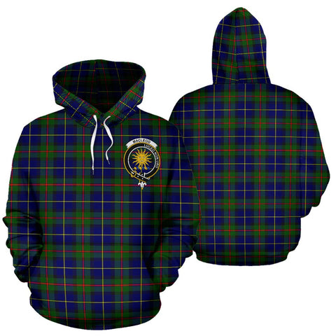 ScottishShop Macleod Tartan Clan Badge Hoodie