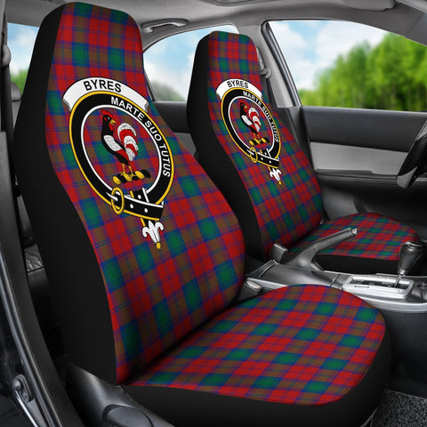 ScottishShop Seat Cover - Tartan Crest Byres Car Seat Cover Clan Badge - Universal Fit