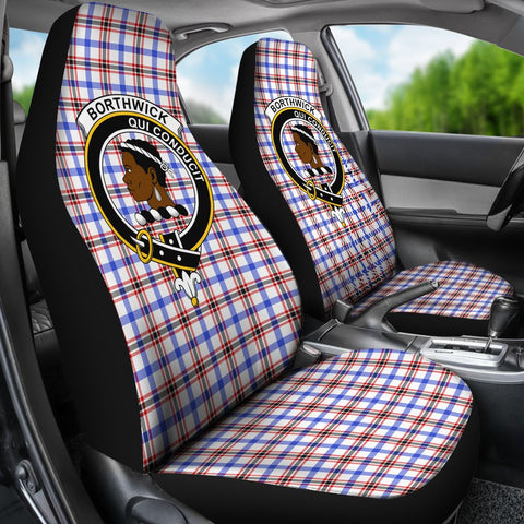 ScottishShop Seat Cover - Tartan Crest Borthwick Car Seat Cover Clan Badge - Universal Fit
