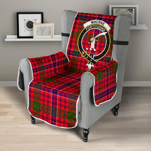 Clan MacRae Modern Plaid & Crest Tartan Sofa Protector - 23 Inches