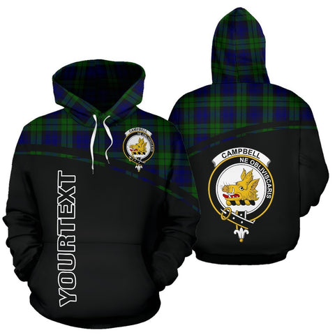 Custom Hoodie - Clan Tartan Campbell Hoodie Make Your Own - Curve Style - Unisex Sizing