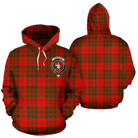ScottishShop Livingstone Tartan Clan Badge Hoodie