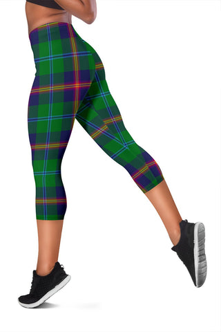 Young Modern Tartan Capris Leggings