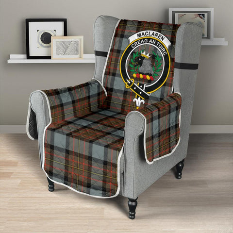 Image of Clan MacLaren Weathered Plaid & Crest Tartan Sofa Protector - 23 Inches