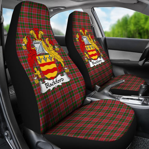 ScottishShop Seat Cover - Tartan Crest Blackford Car Seat Cover Clan Badge - Universal Fit