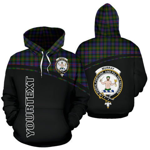 Custom Hoodie - Clan Tartan Murray of Atholl Hoodie Make Your Own - Curve Style - Unisex Sizing