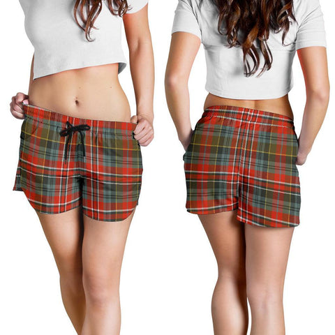 Macpherson Weathered Tartan Shorts For Women