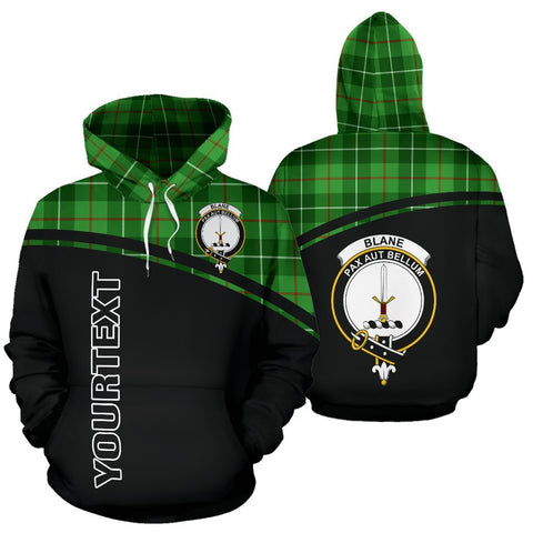 Custom Hoodie - Clan Tartan Blane Hoodie Make Your Own - Curve Style - Unisex Sizing