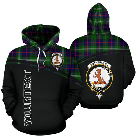 Custom Hoodie - Clan Tartan Sutherland II Hoodie Make Your Own - Curve Style - Unisex Sizing