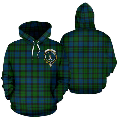 Image of Mackay Tartan Clan Badge Hoodie HJ4