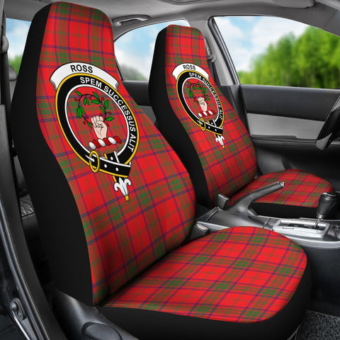 Seat Cover - Tartan Crest Ross Car Seat Cover - Universal Fit