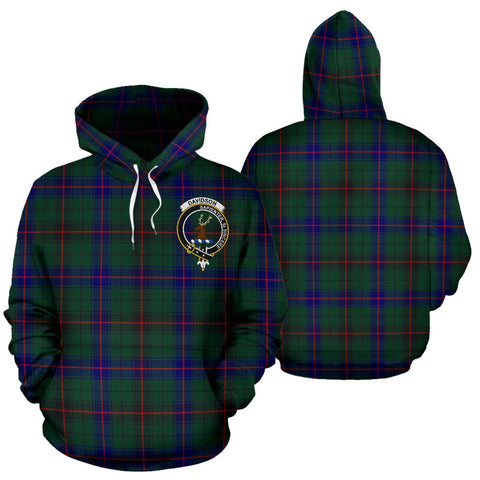 Image of Davidson Tartan Clan Badge Hoodie HJ4