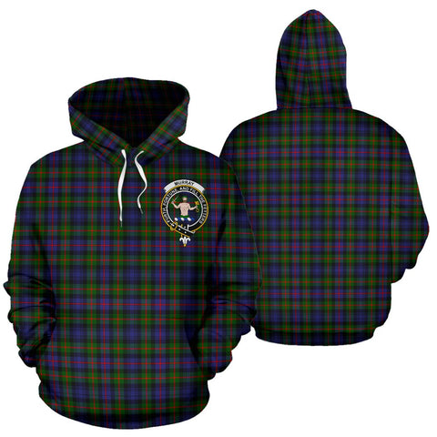 Image of Murray Of Atholl Tartan Clan Badge Hoodie HJ4