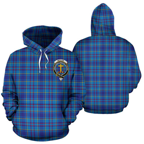 Image of ScottishShop Mercer Tartan Clan Badge Hoodie