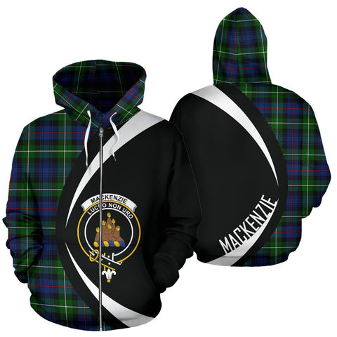 Image of Tartan Zip Up Hoodie - Clan Mackenzie Zip Up Hoodie - Circle Style Unisex