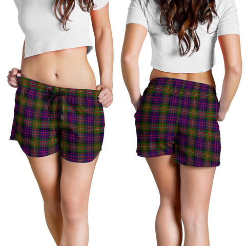 Image of Macdonnell Of Glengarry Modern Tartan Shorts For Women Th8