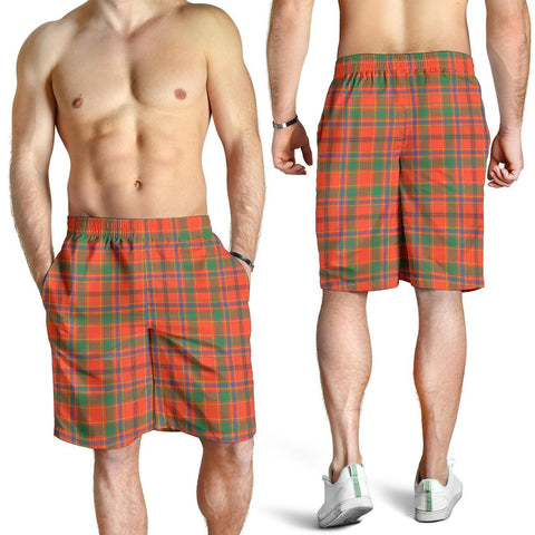 Tartan Mens Shorts - Clan Munro Ancient Plaid Shorts