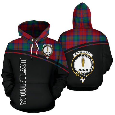 Custom Hoodie - Clan Tartan Auchinleck Hoodie Make Your Own - Curve Style - Unisex Sizing