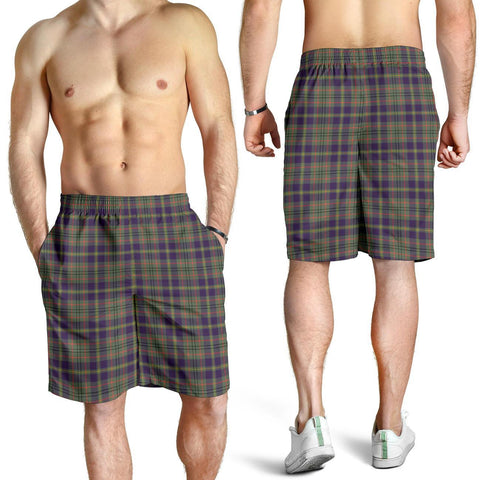 Tartan Mens Shorts - Clan Taylor Weathered Plaid Shorts