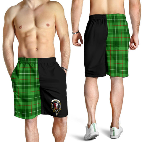 Tartan Mens Shorts - Clan Boyle Crest & Plaid Shorts - Half Of Me Style