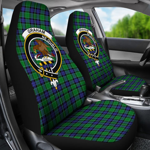 Seat Cover - Tartan Crest Graham Of Menteith Modern Car Seat Cover - Universal Fit