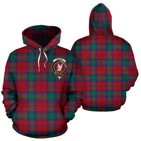 ScottishShop Lindsay Tartan Clan Badge Hoodie