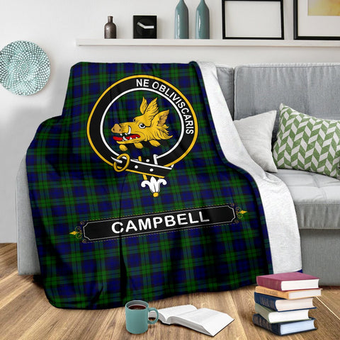 Campbell Crest Tartan Blanket | Tartan Home Decor | ScottishShop