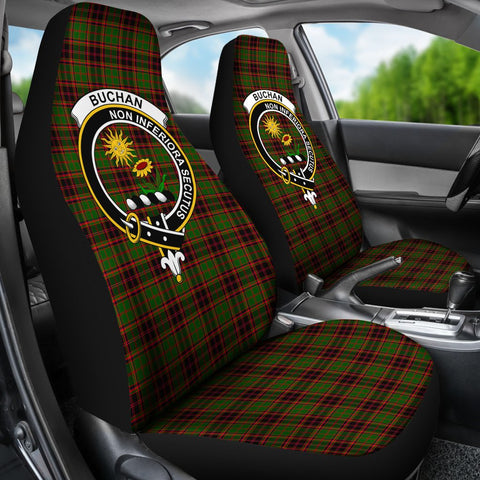 Buchan Tartan Car Seat Covers Clan Badge