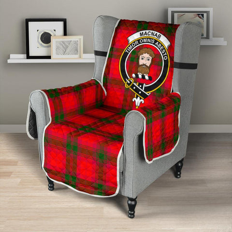 Image of Clan MacNab Modern Plaid & Crest Tartan Sofa Protector - 23 Inches