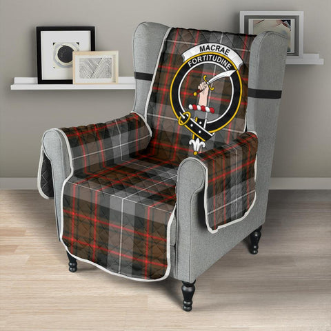 Clan MacRae Hunting Weathered Plaid & Crest Tartan Sofa Protector - 23 Inches