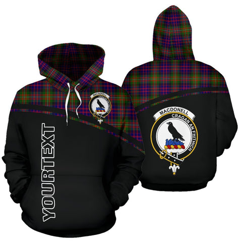 Custom Hoodie - Clan Tartan MacDonell of Glengarry Hoodie Make Your Own - Curve Style - Unisex Sizing