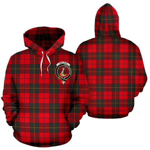 Image of ScottishShop Wallace Weathered Tartan Clan Badge Hoodie