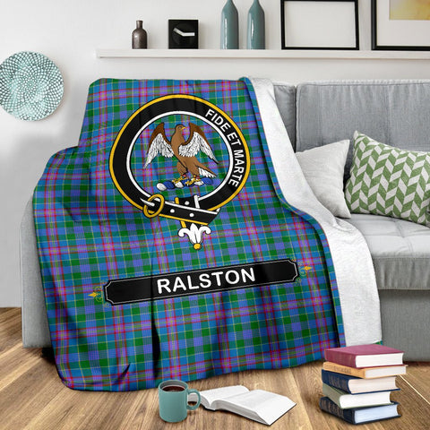 Ralston Crest Tartan Blanket | Tartan Home Decor | ScottishShop