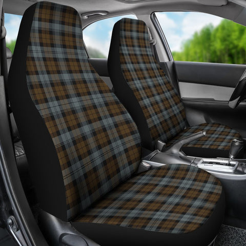 Seat Cover - Tartan Blackwatch Weathered Car Seat Cover - Universal Fit