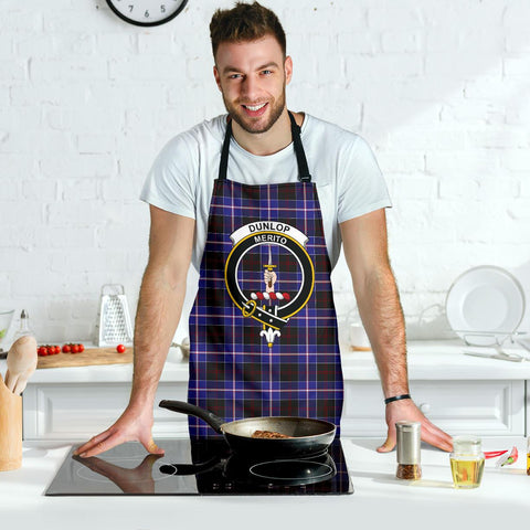 Image of Tartan Apron - Dunlop Modern Apron With Clan Crest HJ4