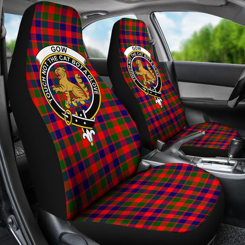 Seat Cover - Tartan Crest Gow Of Mcgouan Car Seat Cover - Universal Fit