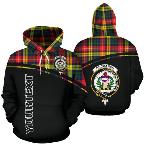 Custom Hoodie - Clan Tartan Buchanan Hoodie Make Your Own - Curve Style - Unisex Sizing