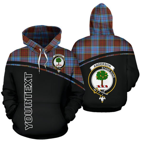 Custom Hoodie - Clan Tartan Anderson Hoodie Make Your Own - Curve Style - Unisex Sizing
