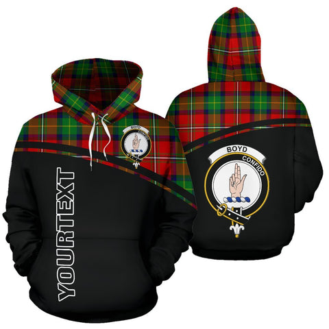Custom Hoodie - Clan Tartan Boyd Hoodie Make Your Own - Curve Style - Unisex Sizing