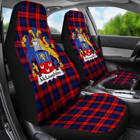 Seat Cover - Tartan Crest Mclaughlin Car Seat Cover - Universal Fit