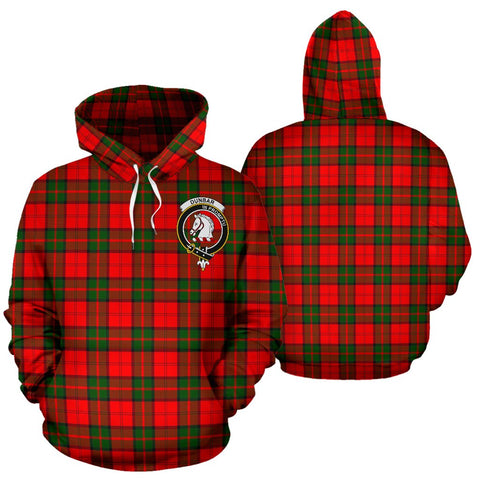 ScottishShop Dunbar Tartan Clan Badge Hoodie