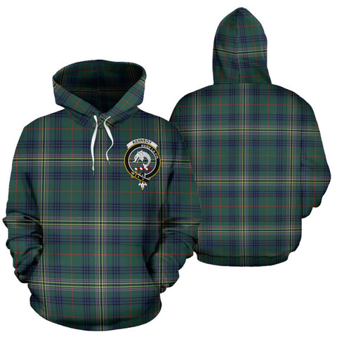 ScottishShop Kennedy Tartan Clan Badge Hoodie