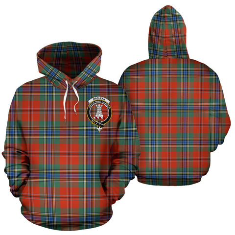 Maclean Of Duart Tartan Clan Badge Hoodie HJ4