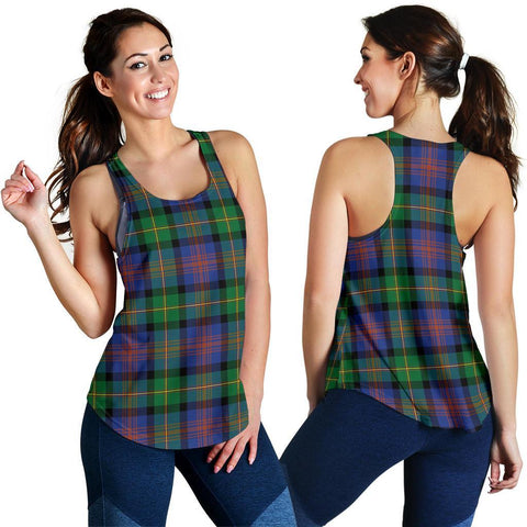Logan Ancient Tartan Women Racerback Tank