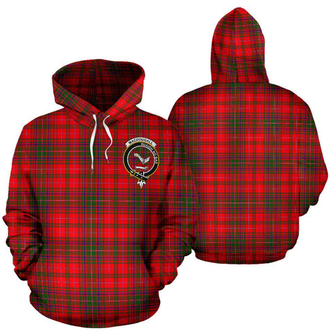 Image of ScottishShop Macdougall Tartan Clan Badge Hoodie